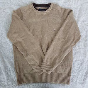 Tommy Hilfiger Tan Brown Crew Neck Sweater